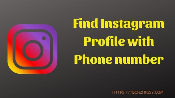 How to find someone account on Instagram with Phone number