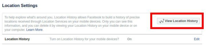 track history facebook